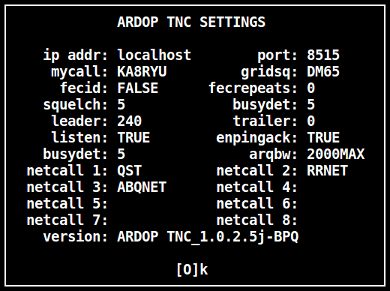 ARIM Messaging Program for the ARDOP TNC